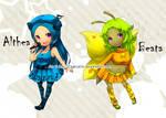 . . .  Althea and Beata . . . .