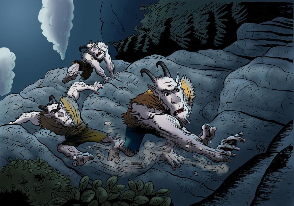 Mountain Trolls by KevRichter
