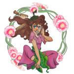 Combing a fairy`s hair - Disney Fairies