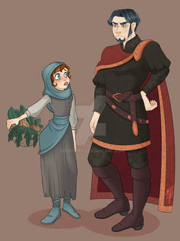 The peasant and the lord - Medieval AU