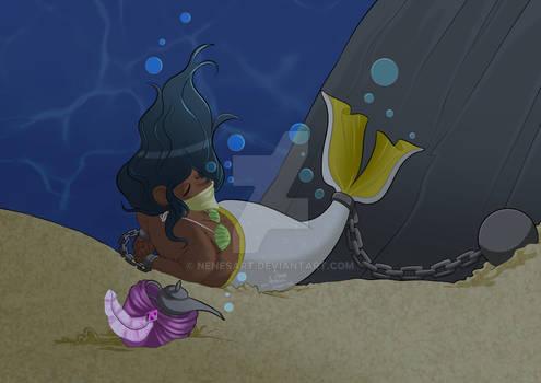 Bear mermaid - commission