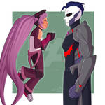 Entrapta and Hordak - screenshot redraw