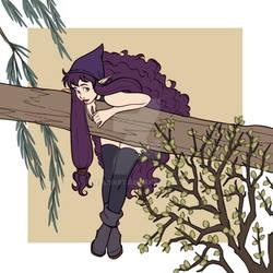 Fallen tree - Cassandra the nymph