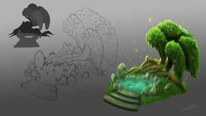Magical Fairy Tree Concept Art