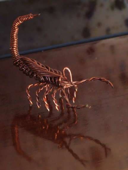 how to make a wire scorpion