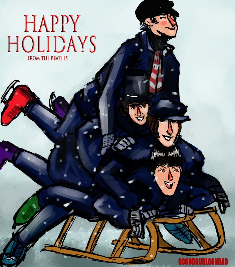 Happy Holidays from The Beatles by GoodGurlGonBad
