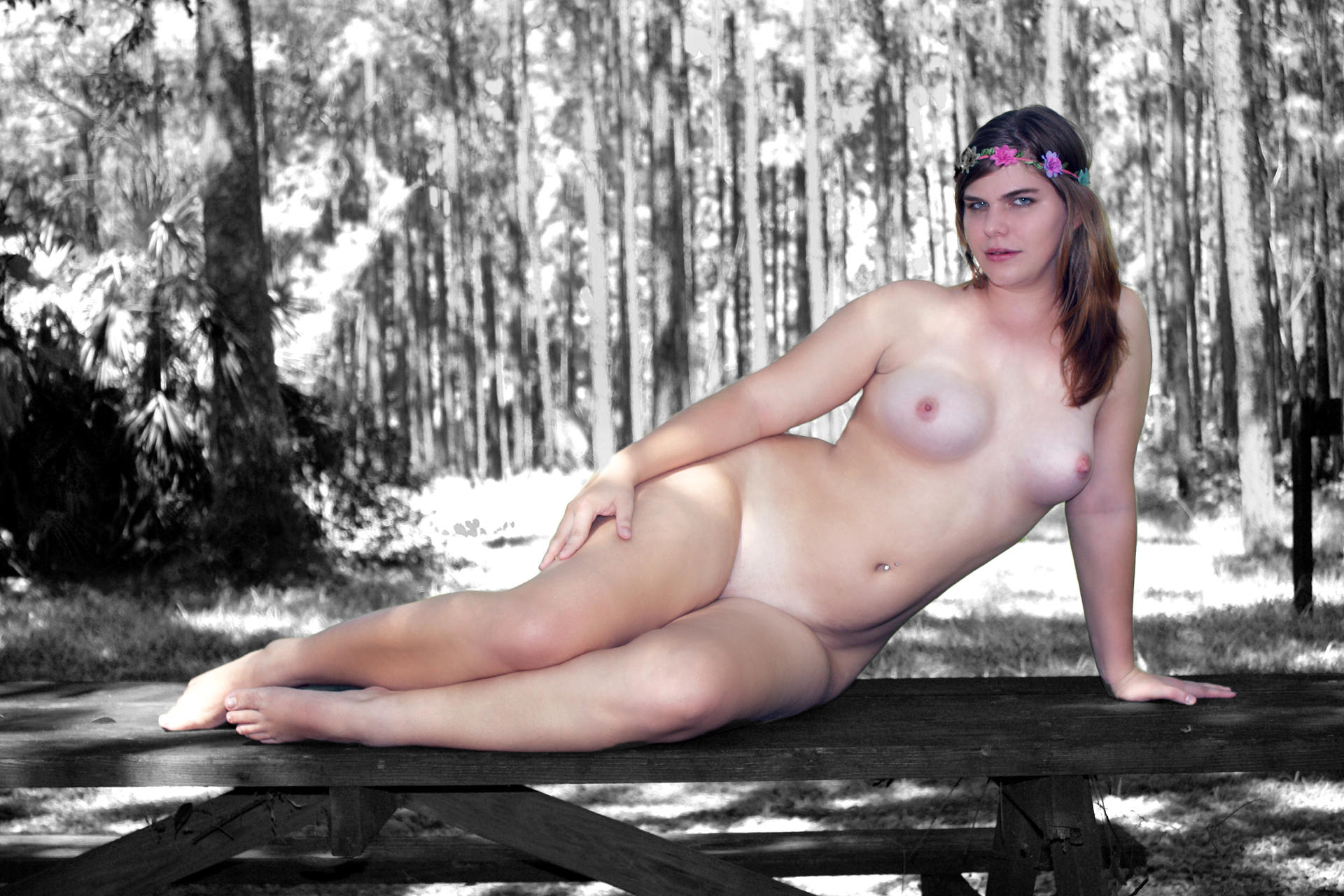 Naked in a Forest by csp-media