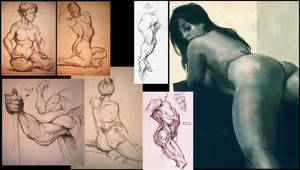 Somewhat sexy life drawings