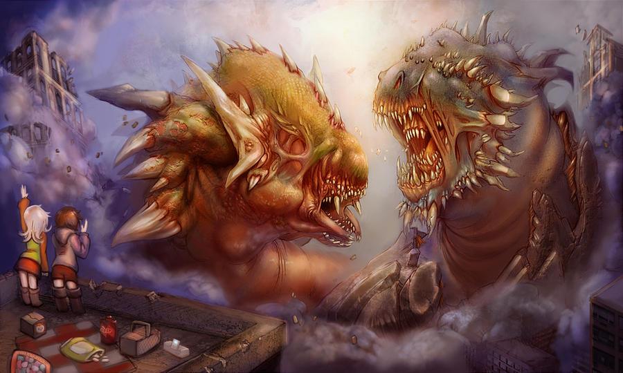 Venom Breath versus Mantle Masher by GeniusFetus