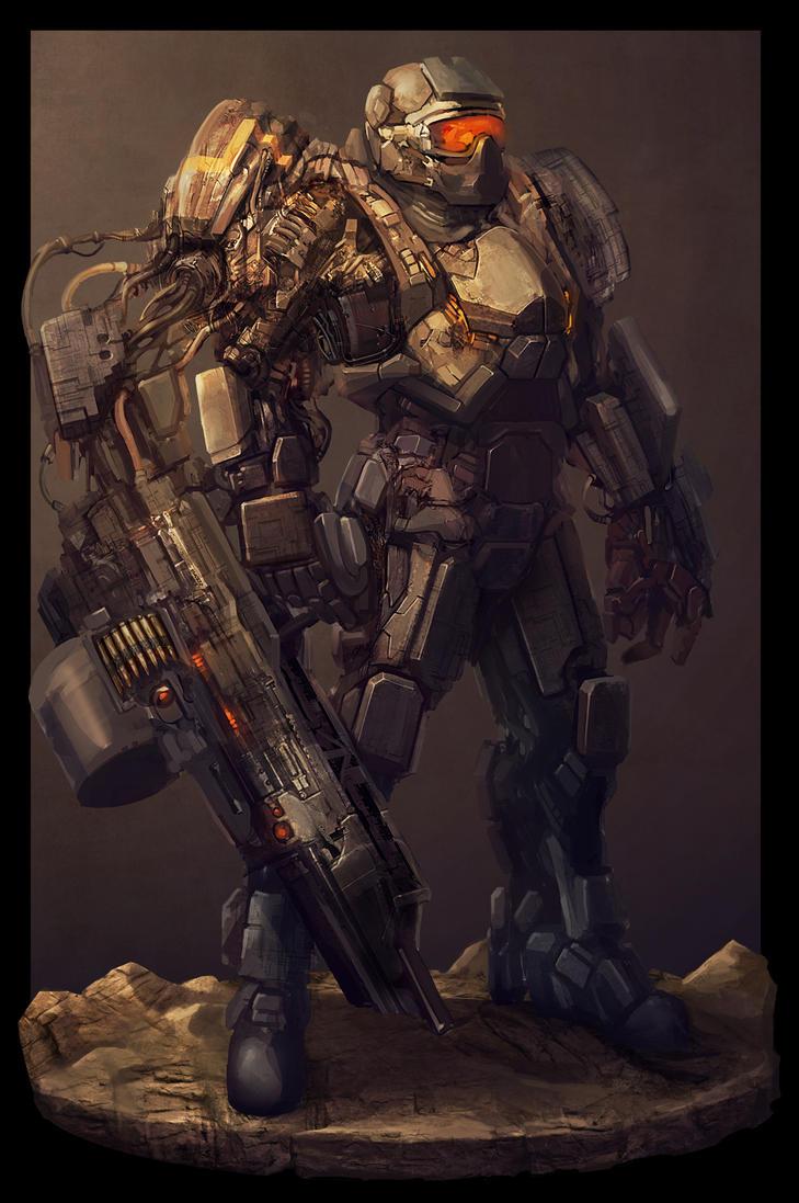 Robot warrior from beyond by GeniusFetus