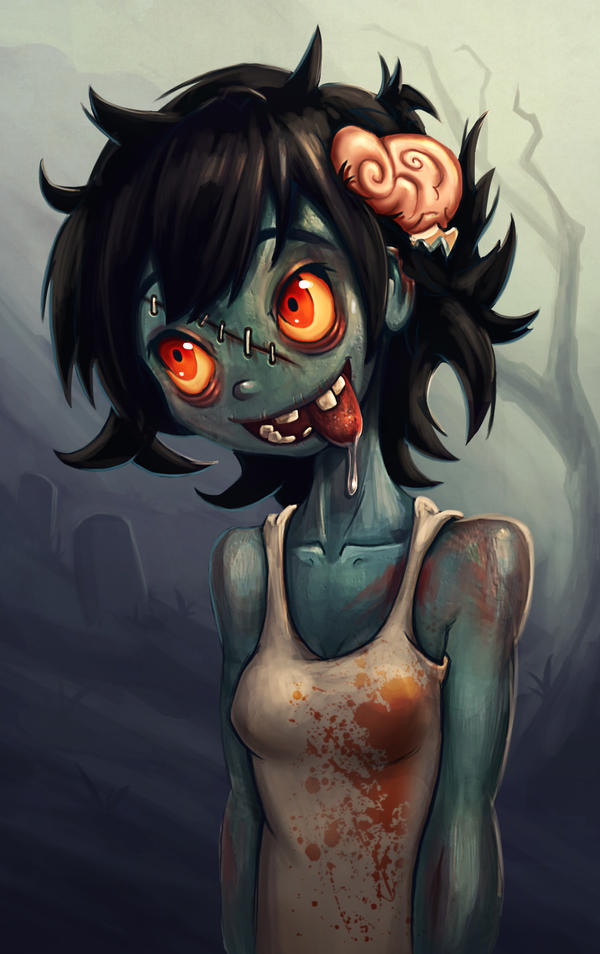 Strangely attractive Zombie Girl by GeniusFetus