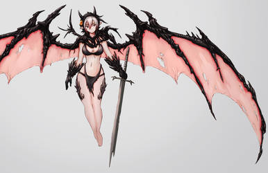 Demon Sketch by GeniusFetus