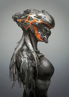 Mech Helmet by GeniusFetus