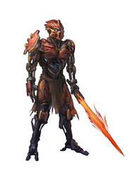 Tahu Fire Warrior by GeniusFetus