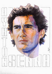 Ayrton Senna by FazzyPencil