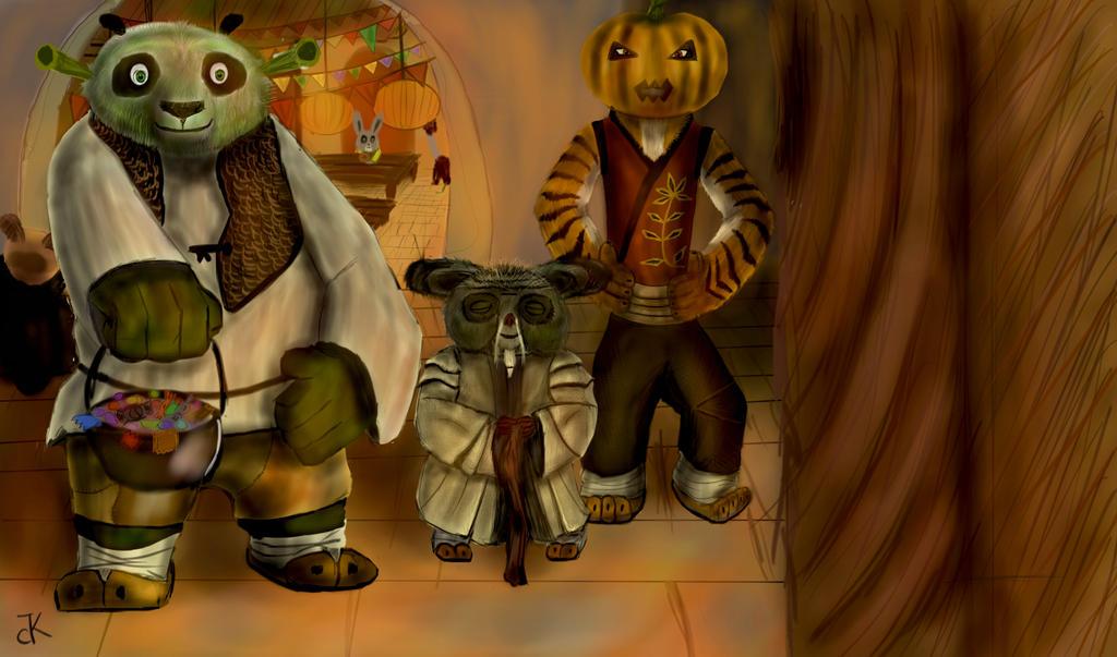 Halloween Po, Tigress and Shifu. by bk-kam on DeviantArt