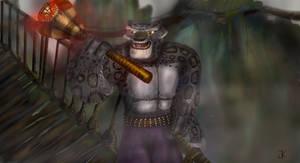Tai Lung and staff Cobra