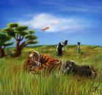 Summer Day( Po and Tigress)