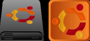 Ubuntu icon and drive