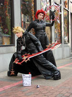 Axel and Roxas by thedementedartist
