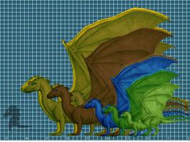 Pern Dragon Ratios by bronze-dragonrider