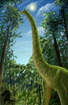 Brachiosaurus speedpaint by bronze-dragonrider