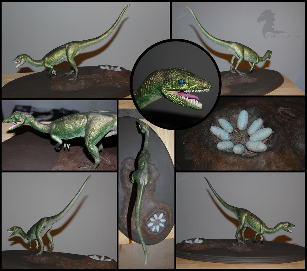 Compsognathus sculp - COMPLETE by bronze-dragonrider