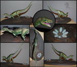 Compsognathus sculp - COMPLETE by bronze-dragonrider