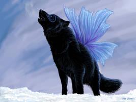 Winged Wolf by bronze-dragonrider