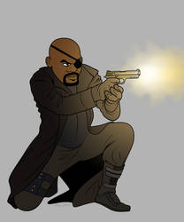 Nick Fury by bronze-dragonrider