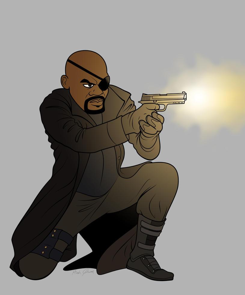 Nick Fury by bronze-dragonrider