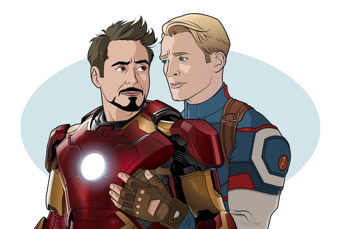 Steve and Tony by bronze-dragonrider