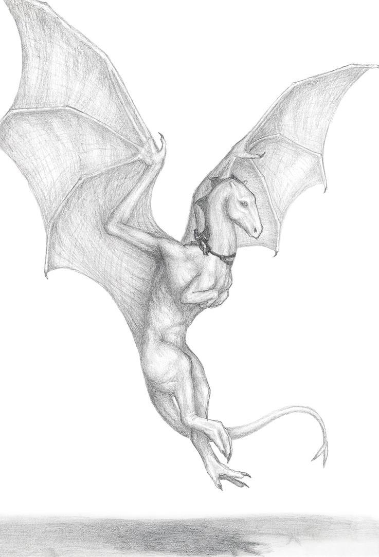 Backwinging Dragon by bronze-dragonrider