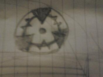 My original Sharingan design by DeviantQuill