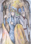 King Oropher and prince Thranduil