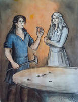 Celebrimbor and Annatar by AnotherStranger-Me