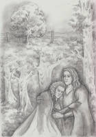 The Lullaby: Raistlin and Caramon by AnotherStranger-Me