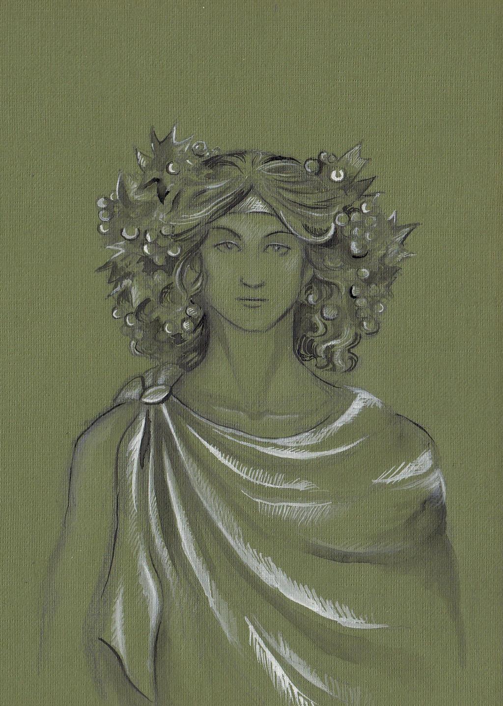God Dionysus by AnotherStranger-Me on DeviantArt  Dionysus Drawing
