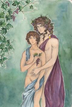 Dionysus and Ampelos