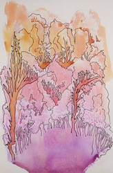 forest in pink