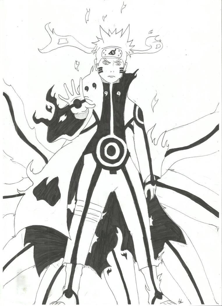 Naruto kyuubi mode by mrnekoneko on deviantart - Naruto kyubi dessin ...
