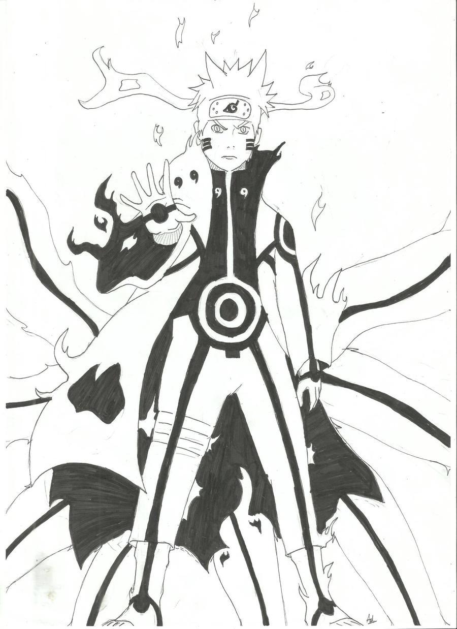 Naruto Kyuubi M... Naruto Kyuubi Sage Mode Drawing