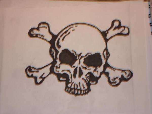skull tattoo by skater-monk