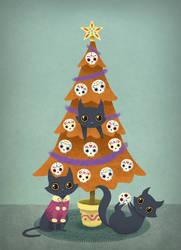 Meowy Christmas by DelusionalAsylum