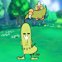 Chikorita and Weedle by ultima-lord