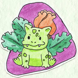 Poke-Sticker#4a Ivysaur (Shiny) by ultima-lord