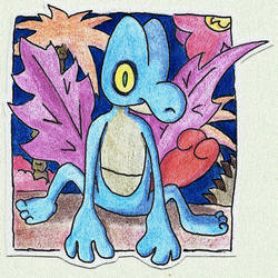 Poke-Sticker#5a Treecko (Shiny) by ultima-lord