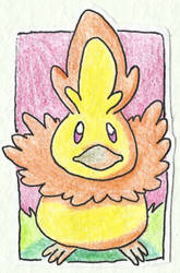 Poke-Sticker#7 Torchic (Shiny) by ultima-lord