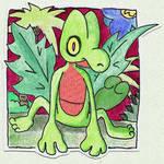 Poke-Sticker#5b Treecko (Regular)