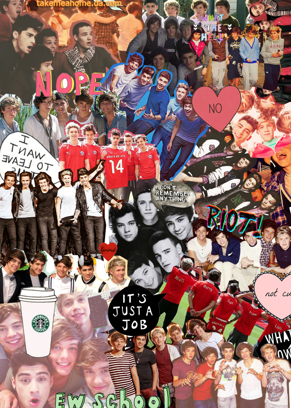 One Direction 2013 Tumblr Collage One Direction And 5sos...